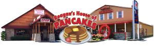 Breakfast Pigeon Forge, Brick and Spoon, k Pancake Breakfast Pigeon Forge, Pigeon Forge, Pigeon Forge Cabins, Pigeon Forge Luxury Cabins, Pigeon Forge Summit Cabins, Reagan's House of Pancakes, Red Rooster Pancake House, Summit Cabin Rentals, Vacation Rentals, Where to eat Breakfast Pigeon Forge